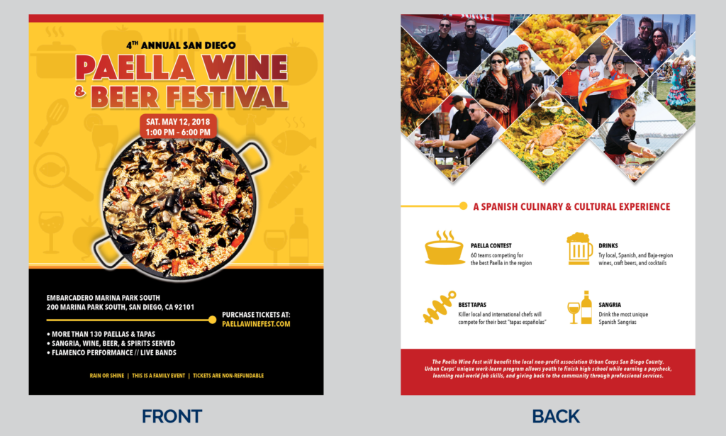 San Diego Paella, Wine and Beer Festival Flyer